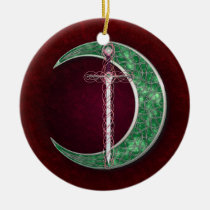 Red And Green Celtic Moon
