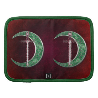Red And Green Celtic Moon Planner