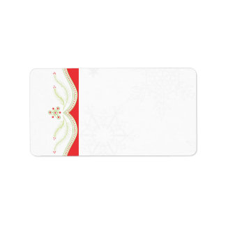 Red and Green Christmas Address Label