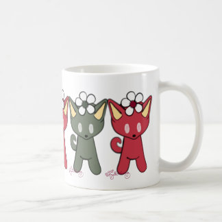 Red And Green Christmas Cats Mugs