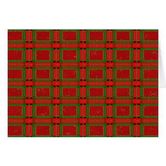 red and green christmas glittered gingham greeting cards