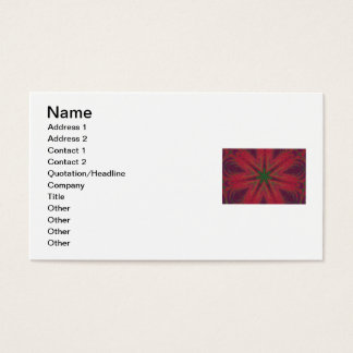 Red and Green Christmas Mandala Business Card