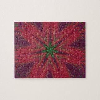 Red and Green Christmas Mandala Jigsaw Puzzles