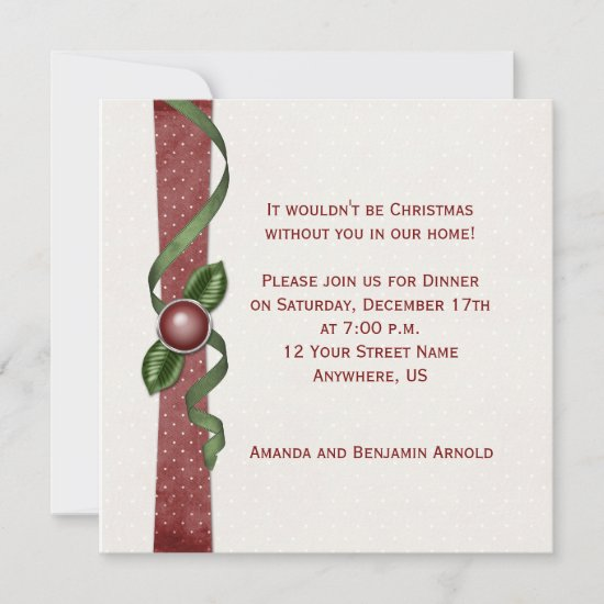 Red and Green Christmas Party Invite