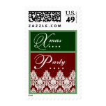 Red and Green Christmas Party Stamps
