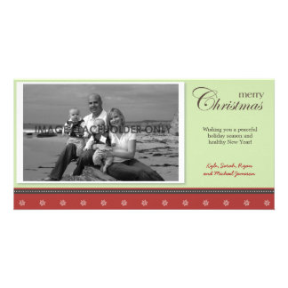 Red and Green Christmas Photo Card