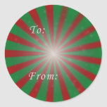 Red and Green Christmas Sticker