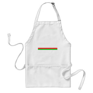 Red and Green Christmas Stripes Adult Apron