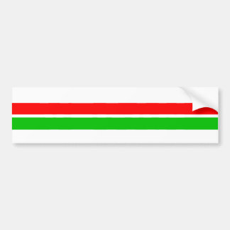 Red and Green Christmas Stripes Bumper Sticker