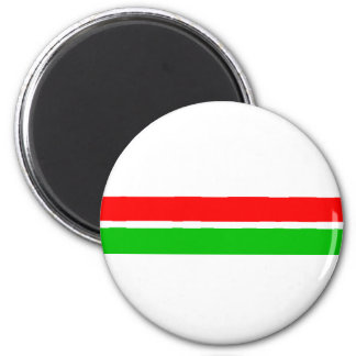 Red and Green Christmas Stripes Magnet