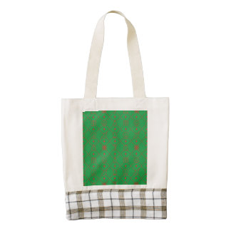 Red and Green Christmas Symbols Seamless Pattern Zazzle HEART Tote Bag