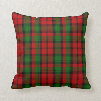 Red and Green Clan Kerr Tartan Plaid Pillow