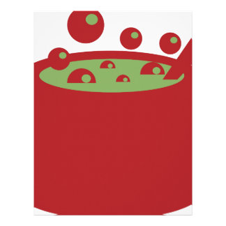 Red and Green Cooking Pot Letterhead