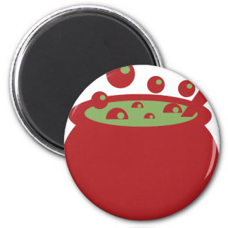 Red and Green Cooking Pot Magnet