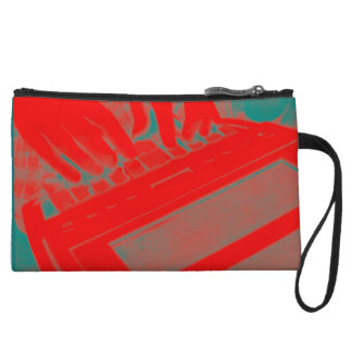 Red and Green Court Reporter Steno Machine Wristlet