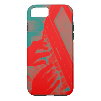 Red and Green Court Reporter Steno Machine iPhone 7 Case
