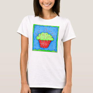 Red and Green Cupcake Tee Shirt
