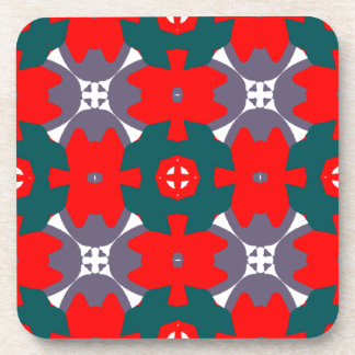 Red and Green Design Drink Coaster
