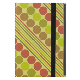 Red and Green Diagonal Lines Circles iPad Mini Covers