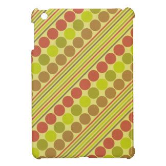 Red and Green Diagonal Lines Circles Cover For The iPad Mini