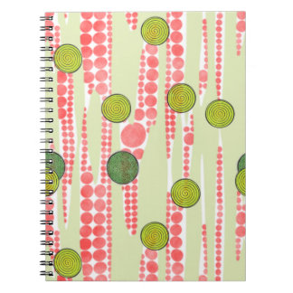 Red and Green Dots Notebook
