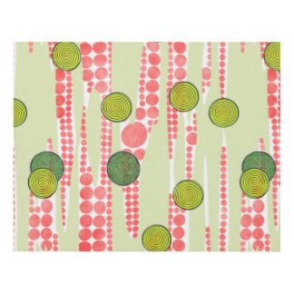 Red and Green Dots Panel Wall Art