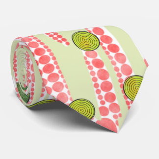 Red and Green Dots Tie