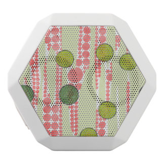 Red and Green Dots White Bluetooth Speaker
