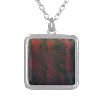 RED and GREEN Downpour Square Pendant Necklace