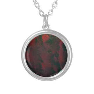 RED and GREEN Downpour Round Pendant Necklace