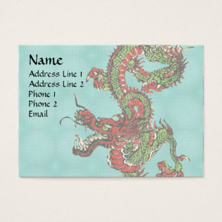 Red and Green Dragon Business Card