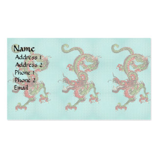 Red and Green Dragon Double-Sided Standard Business Cards (Pack Of 100)