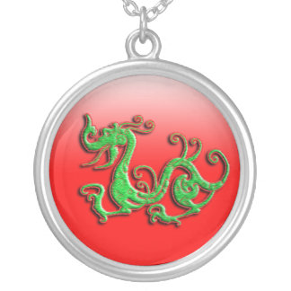 Red and Green Dragon Pendant