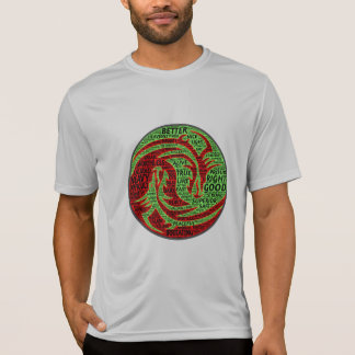Red and green dualistic chasing dragons T-Shirt