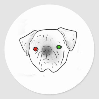 red and green eyed pug stickers