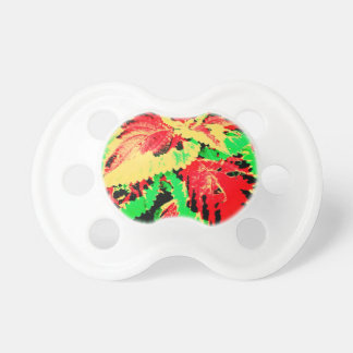 Red And Green Fern Baby Pacifiers