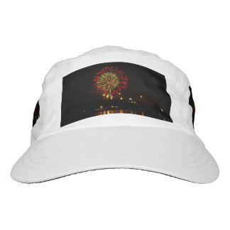 red and green fireworks explode over Mississippi Headsweats Hat