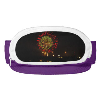 red and green fireworks explode over Mississippi Visor