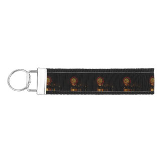 red and green fireworks explode over Mississippi Wrist Keychain