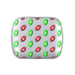 Red and Green Football Pattern Jelly Belly Tins