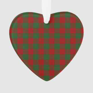 Red and Green Gingham Pattern