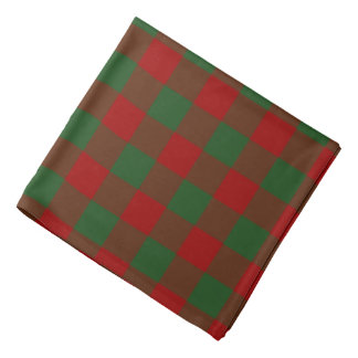 Red and Green Gingham Pattern Bandana