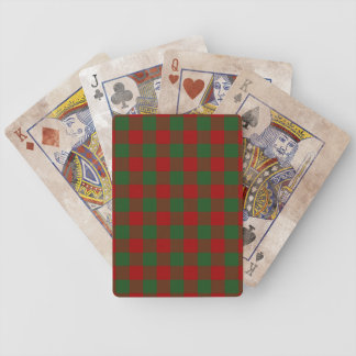 Red and Green Gingham Pattern Bicycle Playing Cards