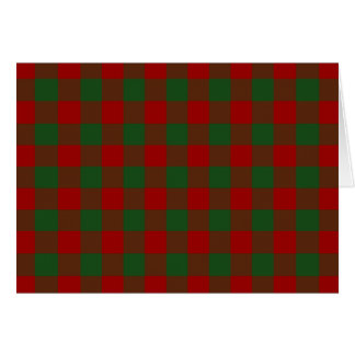 Red and Green Gingham Pattern Christmas Card