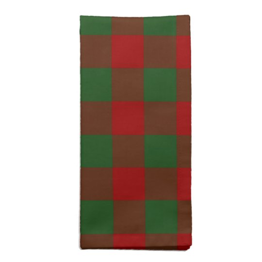 Red and Green Gingham Pattern Cloth Napkin