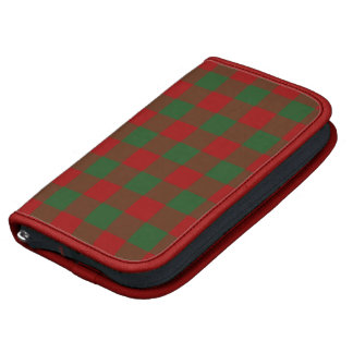 Red and Green Gingham Pattern Folio Planner