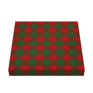 Red and Green Gingham Pattern Gallery Wrap Canvas