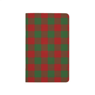 Red and Green Gingham Pattern Journal