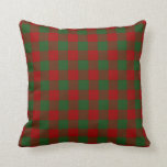 Red and Green Gingham Pattern Pillow