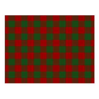 Red and Green Gingham Pattern Postcard